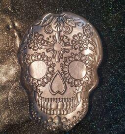 Glass skull dish