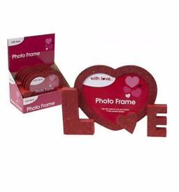 Red Glitter Love Photo Frame