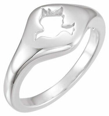 Dove Ring In 14K White Gold