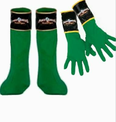 Power Rangers Mystic Force Green Ranger Boots Covers & Gloves Child costume New (Power Rangers Boots)