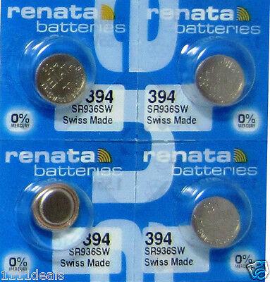 4 Renata 394 Watch and Calculator Batteries