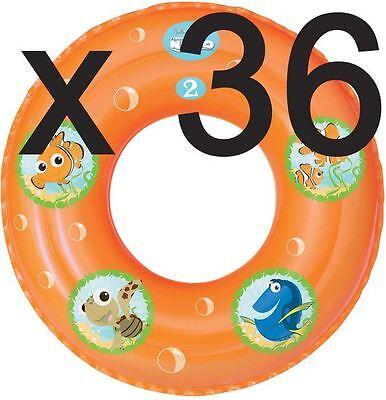 FINDING NEMO BEACH TOYS JOBLOT INFLATABLE POOL RINGS BULK TRADE (BOX OF 36)