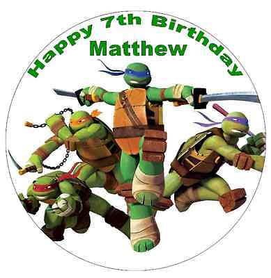 Turtle Personalised Cake Topper Edible Wafer Paper 7.5
