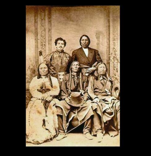 Sitting Bull, Chief Red Cloud PHOTO Spotted Tail, Swift Bear Native American
