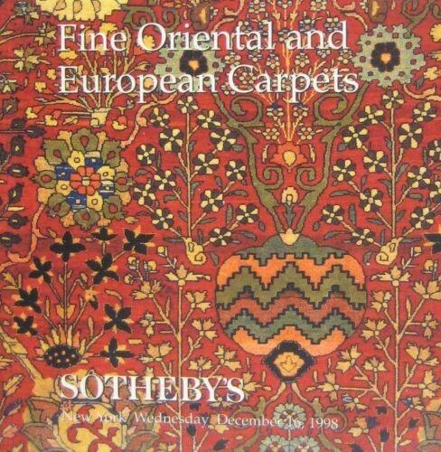 Sothebys Auction Catalog 1998 New York 7242 Fine Oriental and European Carpets