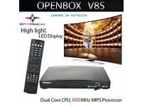 ★ 2017 - OPENBOX V8S★ HD TV SAT RECEIVER ★ SETUP FOR PLUG N PLAY ★ FOR SAT DISHES