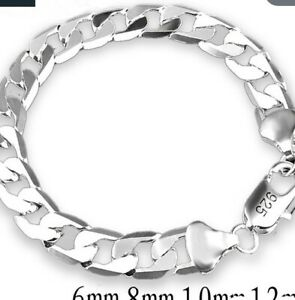 New Silver bracelet thick chain