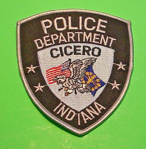 "CICERO  INDIANA  IN  4 3/4""  POLICE PATCH  FREE SHIPPING!!!"