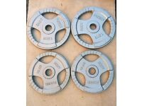 50kg OLYMPIC TRI GRIP WEIGHT PLATES