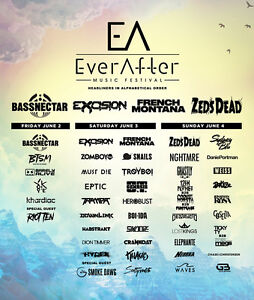 2 Ever After three day GA Passes NEGOTIABLE
