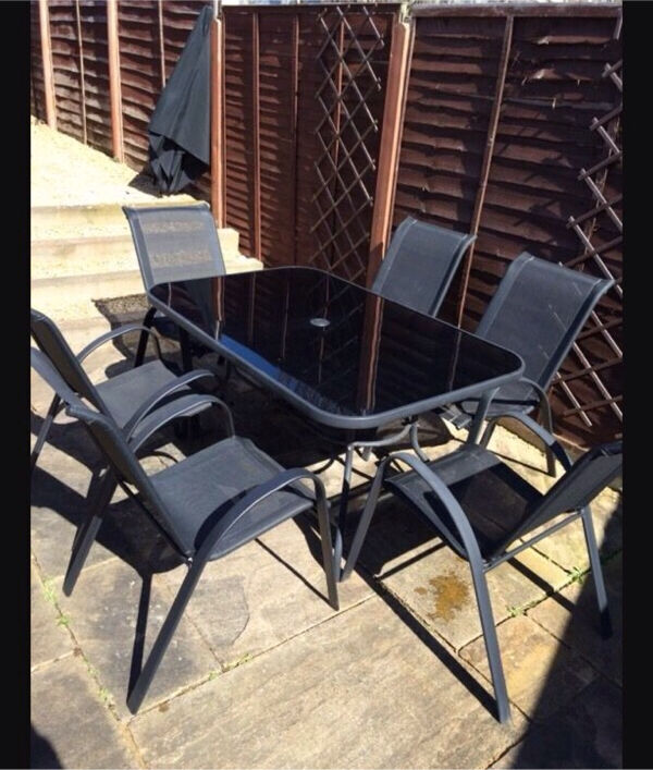 sicily 6 seater patio set brand new boxed