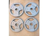 50kg MARCY OLYMPIC TRI GRIP CAST IRON WEIGHT PLATES