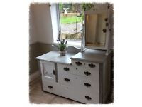Beautiful Dressing Table/Mirror with Marble Top