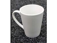 Set of 6 white large mugs