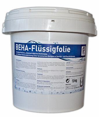 Nasse Flüssigkeit (9kg Flüssigfolie, Dichtfolie, Abdichtung für Bad, Dusche, Küche, Nassräume )