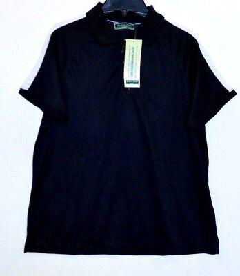 Black Devon & Jones Sport Mens Dri-Fast Advantage Polo Shirt UPF 15 Mens L (Jones Mens Advantage)