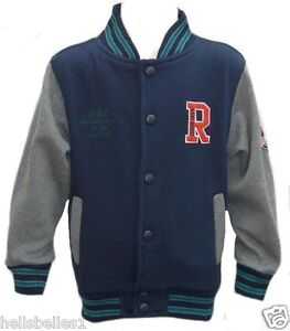 BOY'S  EX PRIMARK LONG SLEEVE BASEBALL JACKET 2-3 3-4 4-5 5-6 6-7YRS