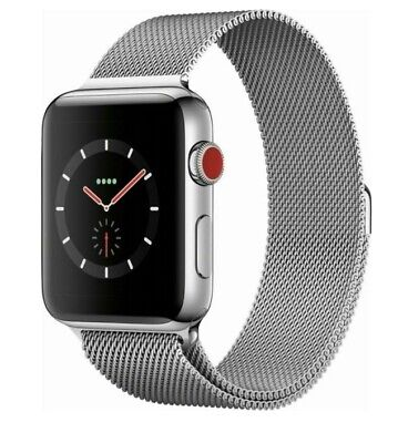 Apple Watch Series 3 GPS + Cellular Stainless Steel 42mm Milanese Loop Silver
