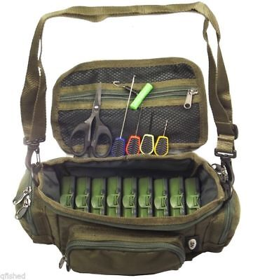 Mini Fishing Bag Carryall Baiting Needles Scissors 9 Tackle Boxes Carp Set NGT