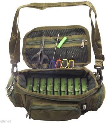 Mini Fishing Bag Carryall Baiting Needles Scissors 9 Tackle Boxes Carp Set NGT