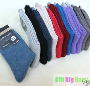 Soft & Comfortable & Warm Women's Wool Cashmere Socks, 3 PAIRS ONE SIZE FITS ALL