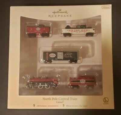 2007 Hallmark Keepsake Ornament - Lionel NORTH POLE CENTRAL TRAIN Miniature Set
