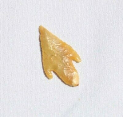 SAHARA NEOLITHIC YELLOW TRANSLUCENT AGATE POINT