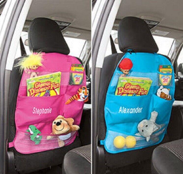 PERSONALIZED Car Back Seat Organizer Front Seat Storage Kids Pocket Auto Travel Car & Truck Parts
