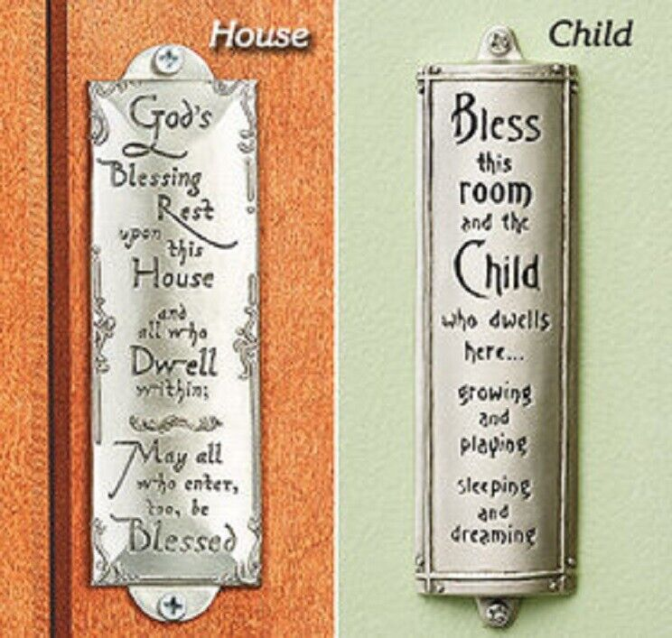 Blessing Pewter Plaque or Sign – Christian God's House OR Room Child Blessing Home & Garden