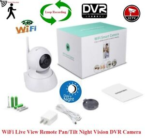 2 Pcs for $60 Security WiFi Live View DVR Camera IR Pan/Tilt