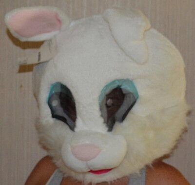 Adult Dan Dee Big Greeter Maskimal Rabbit Bunny Head Costume Mask One - White Rabbit Mask