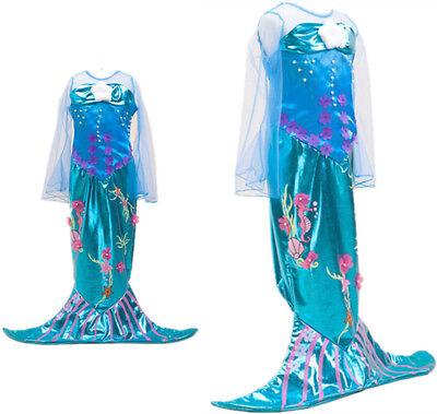 Ariel Meerjungfrau Kleid Kinder Mädchen Prinzessin Dress Cosplay Kostüm Karneval