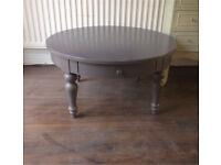 Grey round ikea coffee table