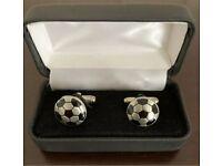Football Cufflinks, unbranded in presentation box