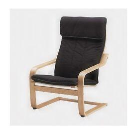 IKEA arm chair oak veneer/black