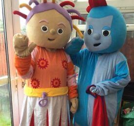 Mascots iggle piggle and upsy daisy children's entertainment