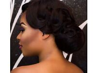 Bridal hairstylist for Afro hair and bridal makeup