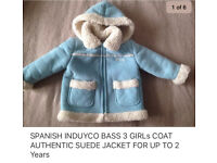 SPANISH AUTHENTIC GIRLS COAT JACKET FOR UP TO 2 Years