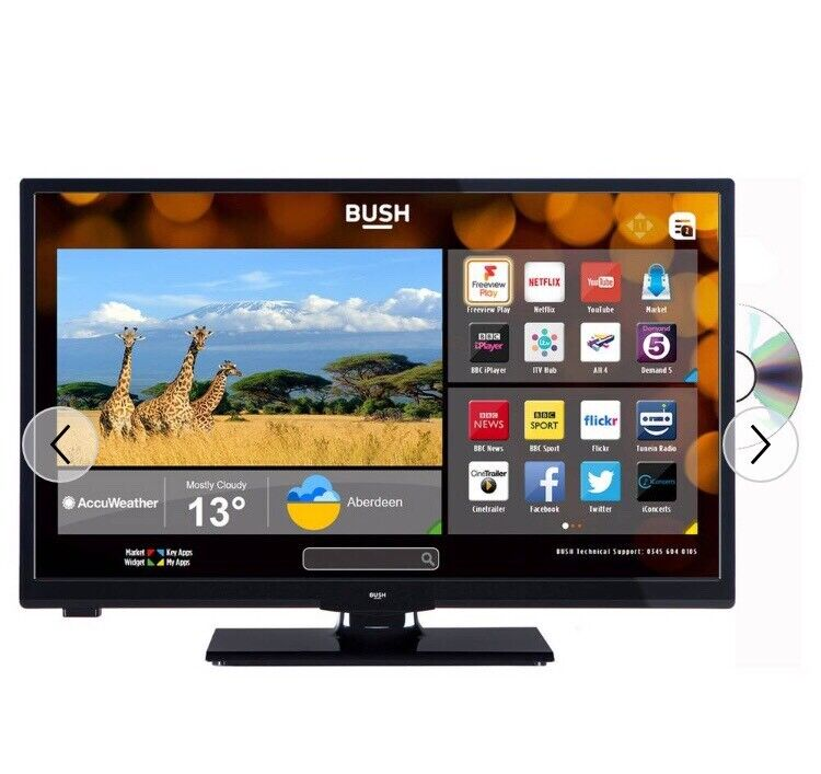BUSH 24 INCH HD READY SMART TV WITH DVD PLAYER | in Cardiff City Centre,  Cardiff | Gumtree