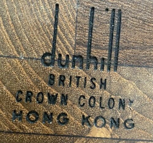 Dunhill Cigar Humidor:  VINTAGE 1970s:  HONG KONG BRITISH CROWN COLONY