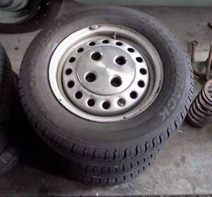 Ford Laser, Mazda 323 wheels with good tyres 175/70R13 Nairne Mount Barker Area Preview