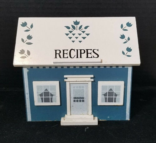 Wooden Recipe Index Card Box