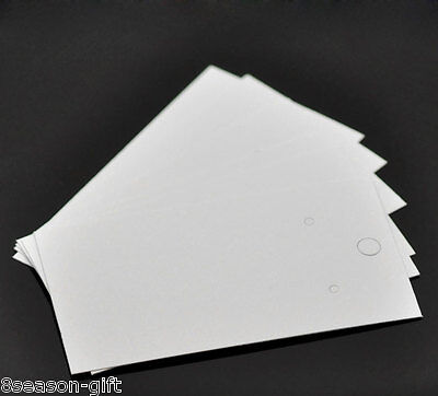500pcs White Earrings Jewelery Display Cards 9x5cm3 48x2