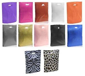 PLASTIC-BAGS-GIFT-SHOP-CARRIER-BAG-BOUTIQUE-RETAIL-25cm-x-31cm-x-9cm