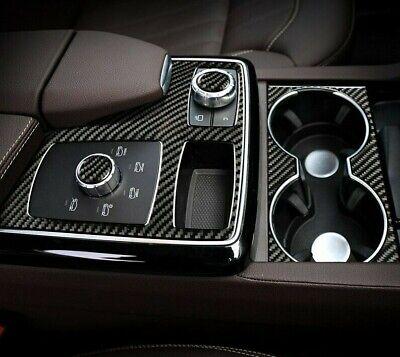 Passend zu Mercedes Benz GLE GLS ML GL Blende Mittelkonsole Carbon Abdeckung