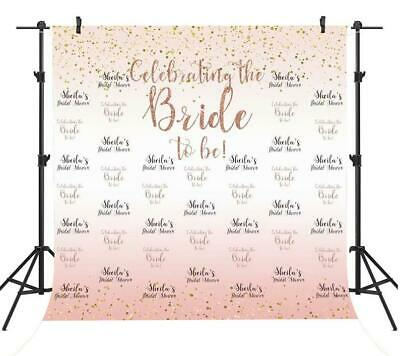 Custom Photo Booth Backdrop (Custom Bridal Shower Backdrop White and Rose Gold Wedding Photo Booth Props)