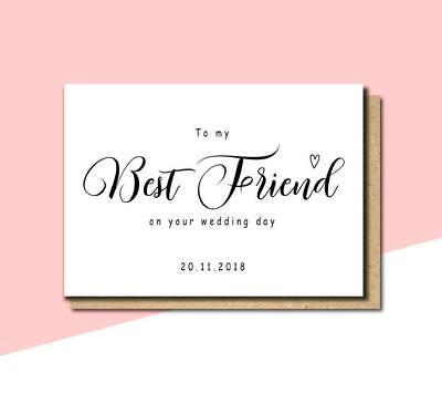 to my best friend on your wedding day card wedding congratulations custom