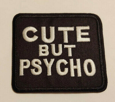 Quotes On Halloween (Cute But Psycho Patch Iron On Horror Halloween Goth Punk Rock Funny Saying)