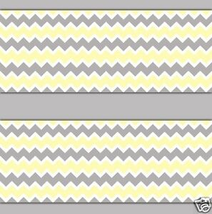 yellow gray chevron wallpaper border wall decal baby boy