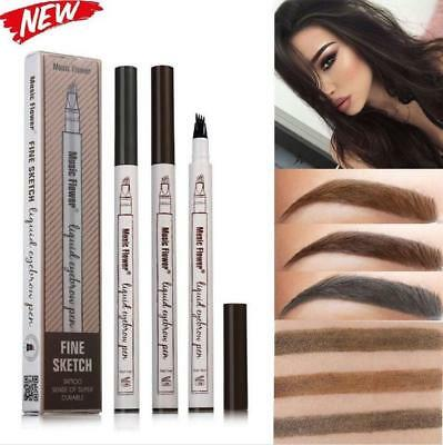 Fashion Microblading Eyebrow Tattoo Pen Waterproof Fork Tip Sketch Makeup Ink GW](Makeup Sketch)